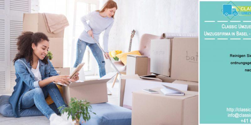 Reinigen Sie Ihr Eigentum ordnungsgemäß, bevor Sie nach Basel ziehen | Ratschlag von Classic Umzuege : Umzugsfirma in Basel